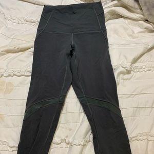 Grey mesh lululemon crop leggings